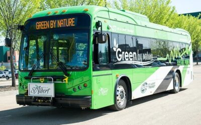 ST. ALBERT'S ELECTRIC BUS FLEET RECEIVES ALBERTA'S TOP ENVIRONMENTAL HONOUR